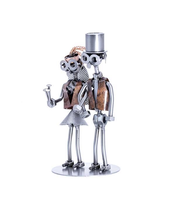 brudepar metalfigur, bryllupssange, indslag til bryllup, bryllupsgve, bruden, wedding couple, bride, bride gift, wedding gift, anniversary gift, wedding party,