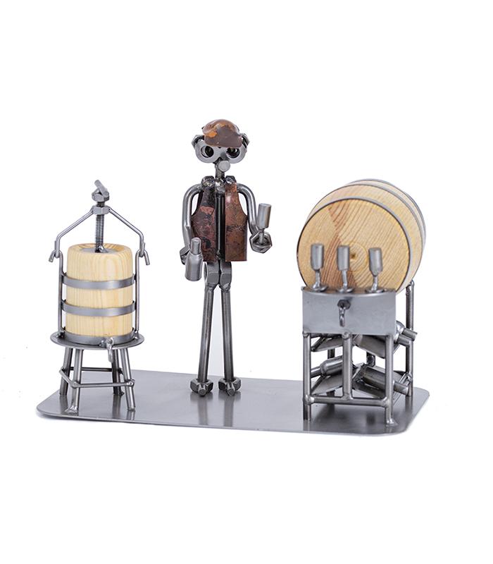 vinbrygger, ølbrygger, brygger, bryggeri, micro bryggeri, brewery, wine brewery, metal figure, metalfigur, metalkunst,