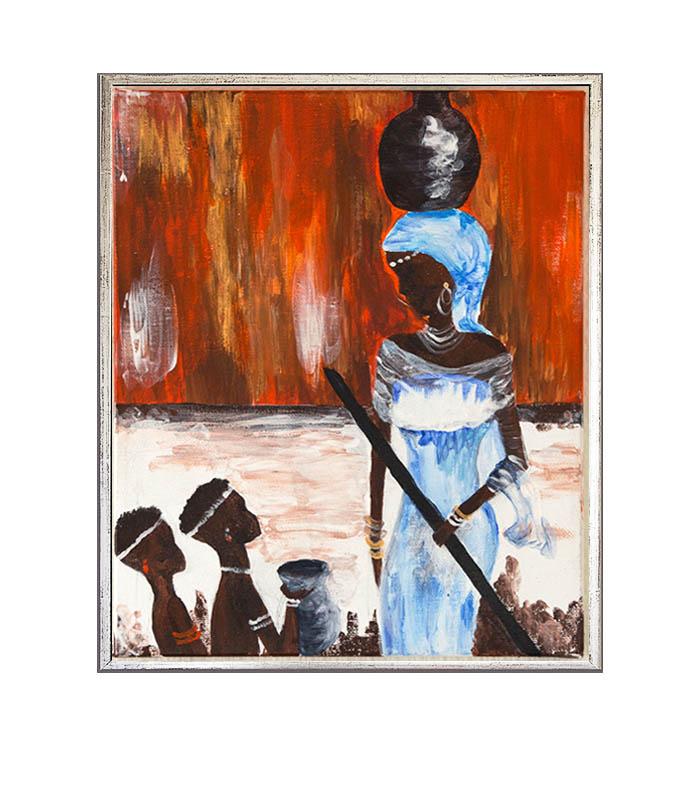 afrika kvinde, billede af afrikansk kvinde, maleri afrikansk kvinde, african woman, african woman picture, art african woman, painting african woman, reproduction african woman, print on canvas african woman, print på kanvas, vægbillede afrikansk kvinde, vægbillede, billedet il stue, billede til gang, billede til bolig