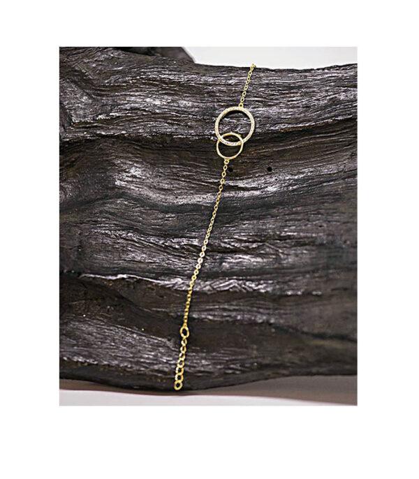 armkæde, armbånd,, armbånd guld, armbånd guldbelagt, armbånd med ringe, armbånd med sten