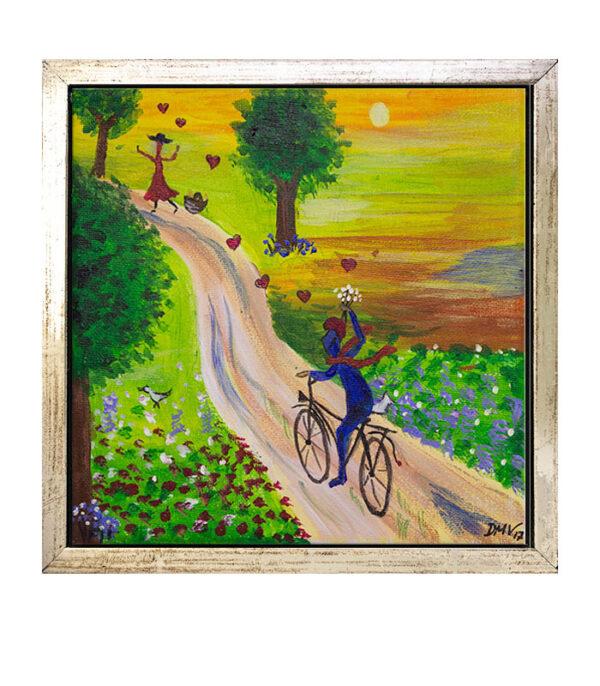 manden med blomsterne, art gallery, kunstmesse, kunstgalleri, art gallery, art exhibition, maleri på kanvas, print på kanvas, flot lille billede til væggen,