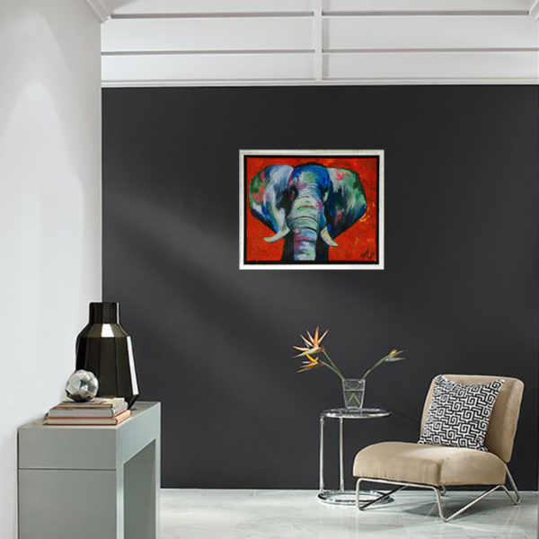 elephant on canvas, elefant på canvas, elefant på lærred, elefant fotoprint, elefant, elefantbillede, billede af elefant på kanvas, billede af elefant