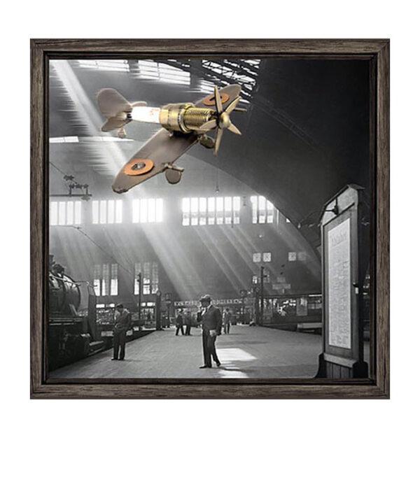 fotokunst, fly foto, fly billede, retro fly billede, foto mtalfly, metalfly, metalfigurer