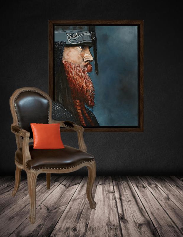 blå viking, vikingbillede, billede af viking, vikingfoto, foto viking, billede viking, vægbillede viking, framed viking, viking photo, viking on canvas, viking wall picture, poster viking, viking painting, viking malieri
