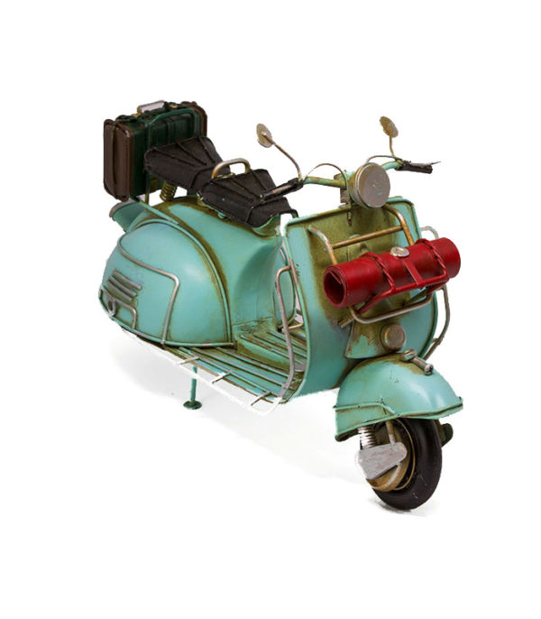 retro mintgrøn scooter, mint green scooter, scooter metal model, model metal scooter, scooter mintgreen, retro scooter, scooter interiør, scooter dekoration,, scooter for home interior, new scooter