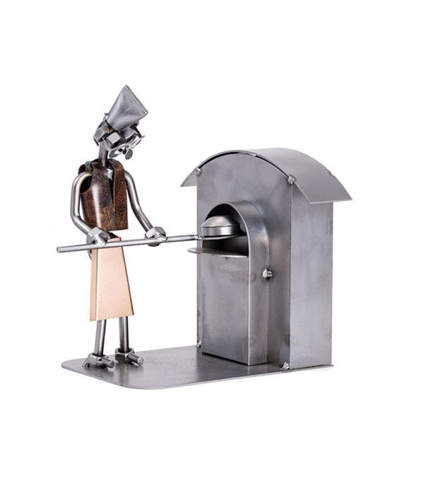 Pizzabager eller bager metalfigur, bageri, pizzabar, pizzeria