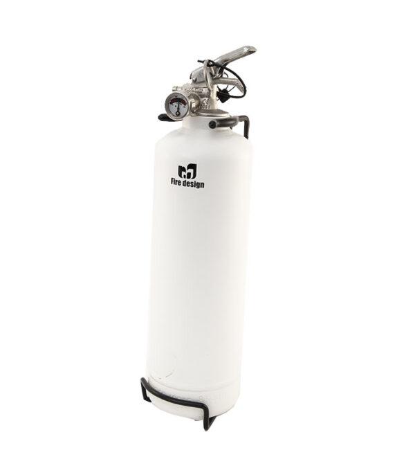 pulverslukker 2 kg med hvid med design logo