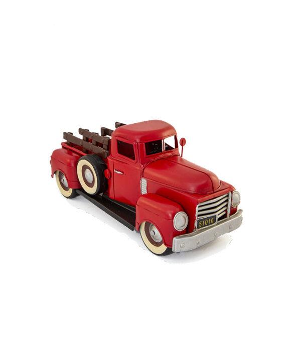 rød retro håndlavet klassisk amerikansk pickup af tin