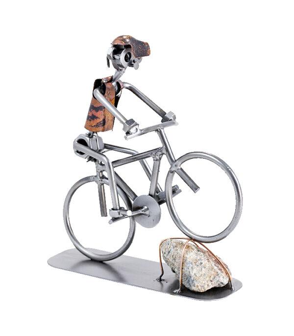 Mountain bike cykelrytter som metalfigur