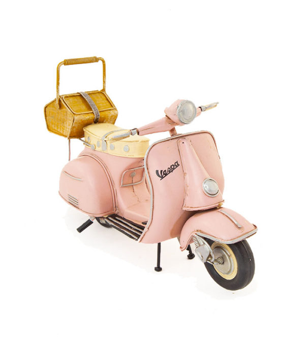 pink retro vespa scooter