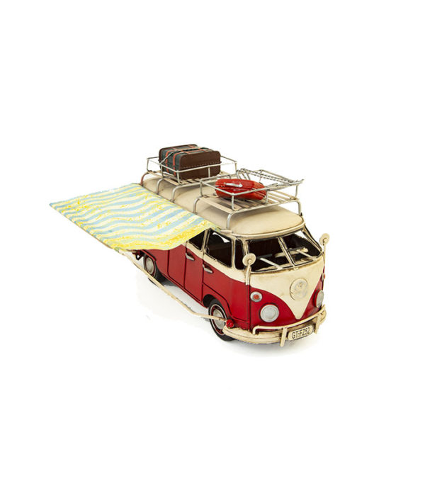 red deko vw camper for home decoration.