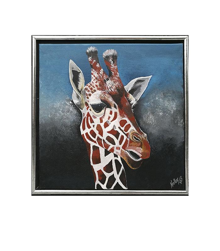 Giraf maleri som print, giraf som kunsttryk, giraf på lærred, giraf billede, giraf maleri, efrikanske dyr malerier, print giraf, plakat giraf