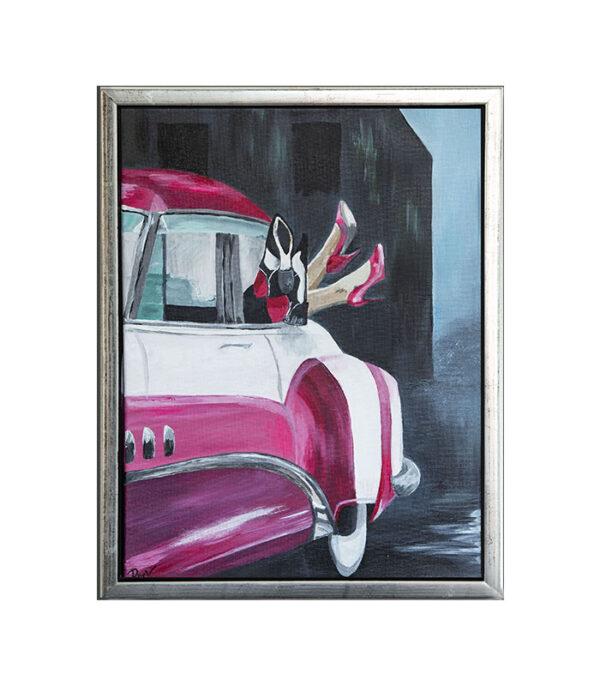 american vintage pink cadillac, billede pink cadillac, retro billede 30x40, pink cadillac retro billede, framed print pink cadillac, gaveideer, gaveideer webshop, online gavebutik, gaveshop, webshop gaver, gaveideer online, gaveideerwebshop, gaveideer webbutik, onlinesalg gaver, julegaveideer,