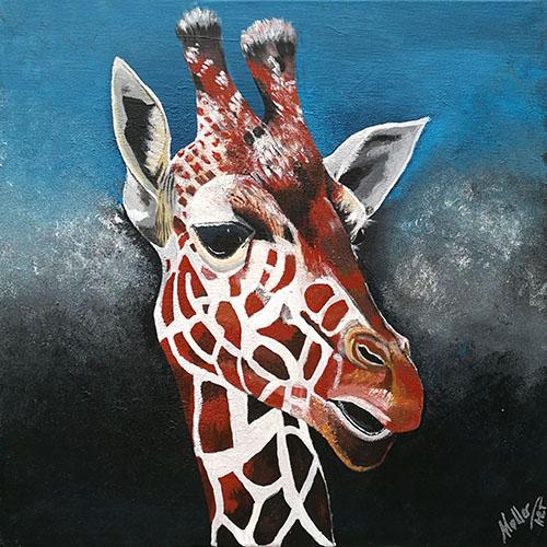 giraf maleri, print på lærred og plakat