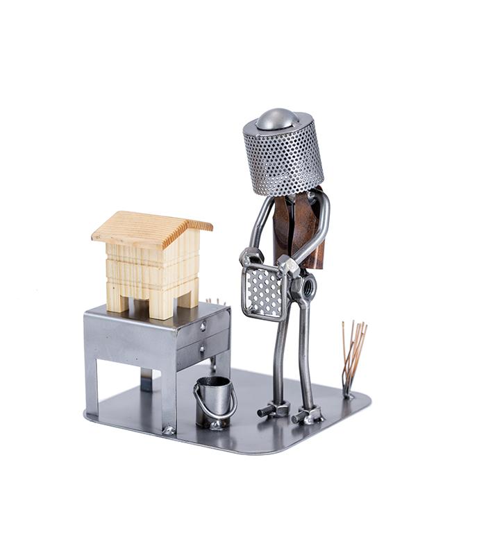 biavler metalfigur, biavler, biavler forening, biavler udstyr, biavler hat, biavler erhverv, honningproducent, gave biavler