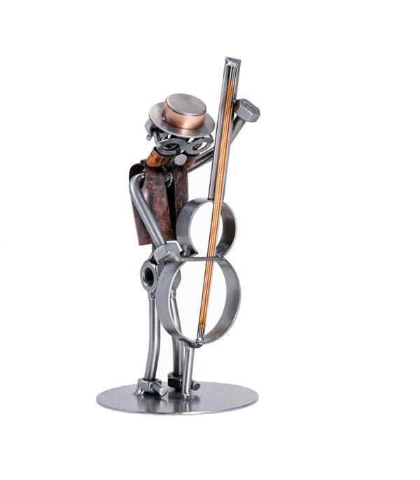 kontrabas metalfigur, contrabass musician, kontrabas metalfigur, kontrabas musiker, kontrabas musikskole