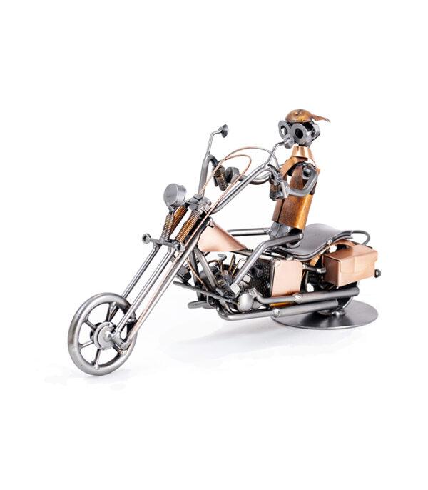 Biker på Harley Davidson metalfigur model motorcykel mand