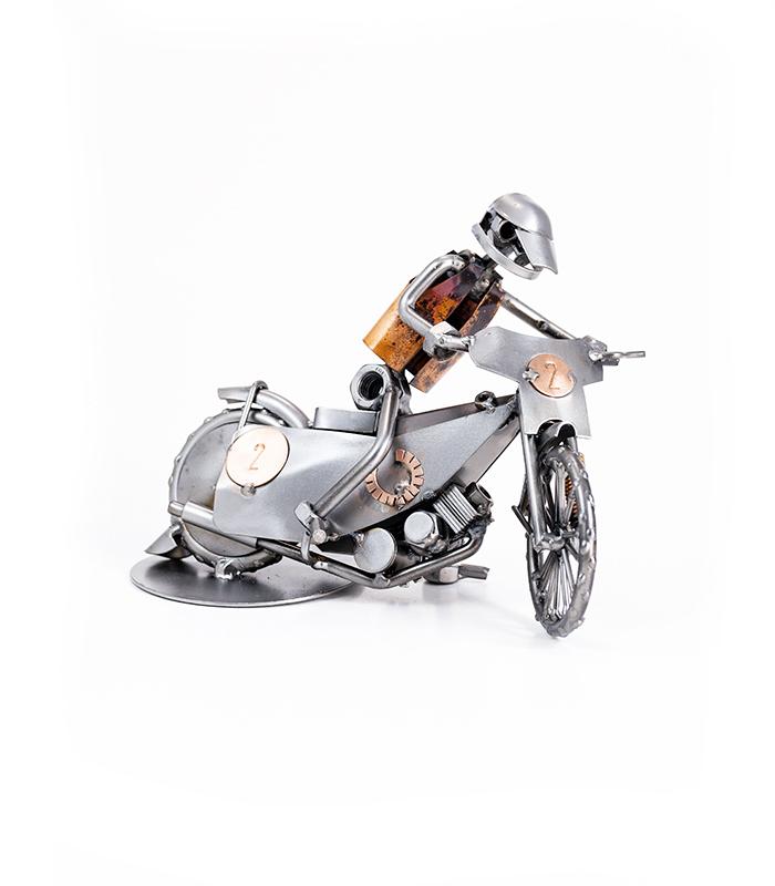 speedway motorcykel med kører som gave