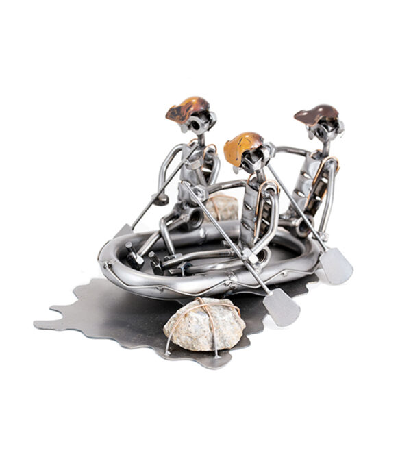 white water rafting ornament figurina dinghy