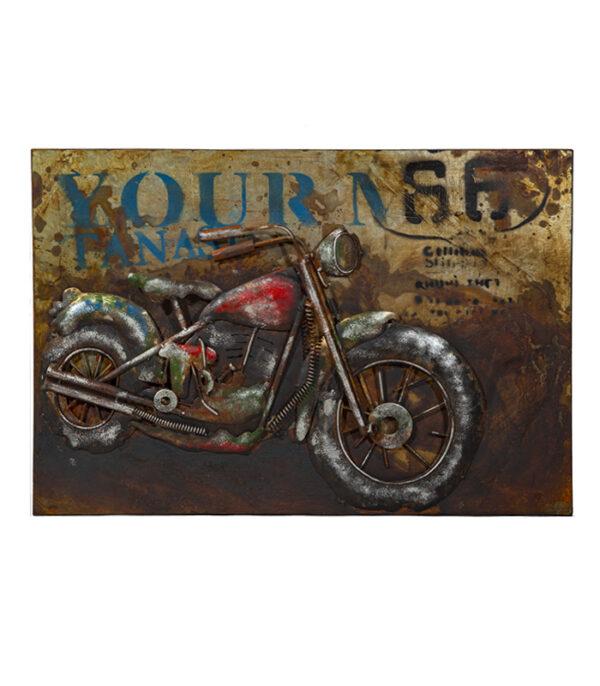 Harley route 66 metal billede