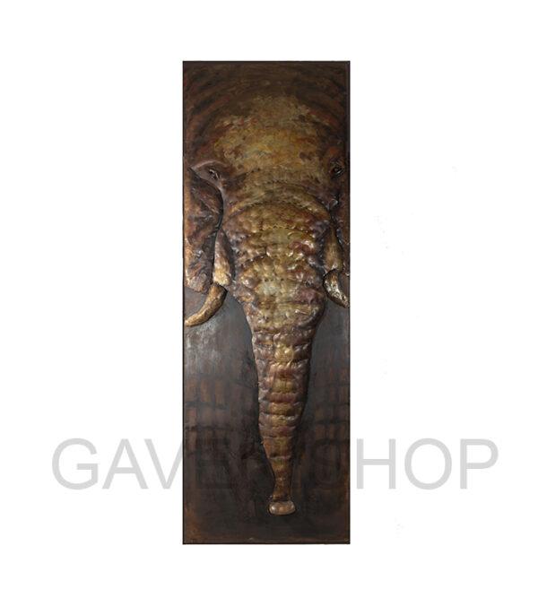 elefant metalbilede, metal billede genbrugsmetal,, metalbillede elefant, metalbillede restmetal elefant, elefantbillede, vægdeko elefant, vægbillede elefant, brun elefant billede, billede elefant 180, billede elefant til væg, billede elefant hæjt, large picture elephant, elephant picture, metal elephant picture