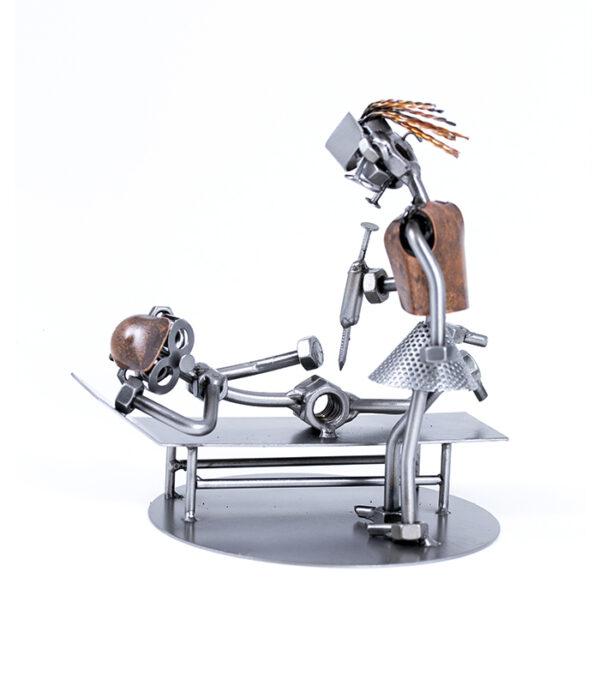 sygeplejerske eller ortopæd metalfigur