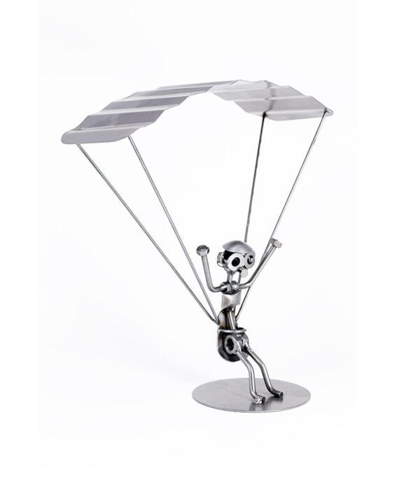 Paraglider eller faldskærmsspringer metalfigur