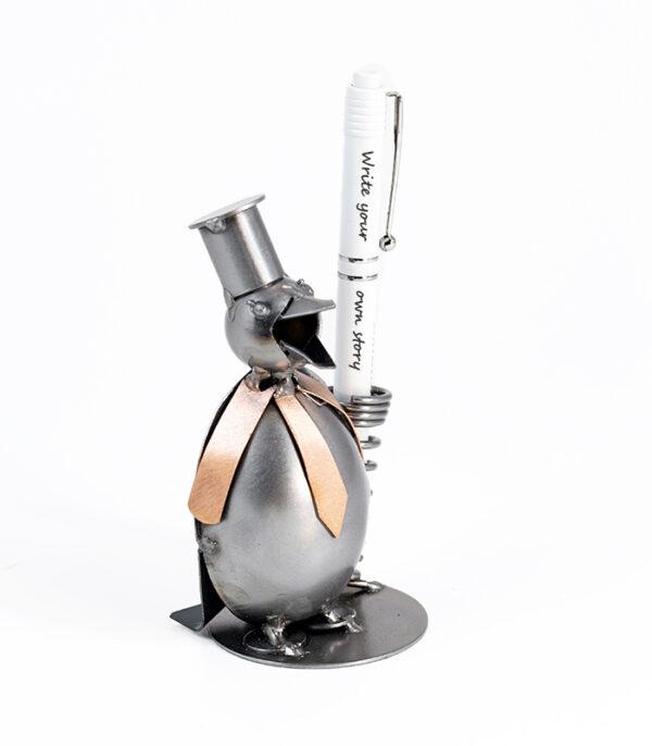 Pingvin penholder i metal