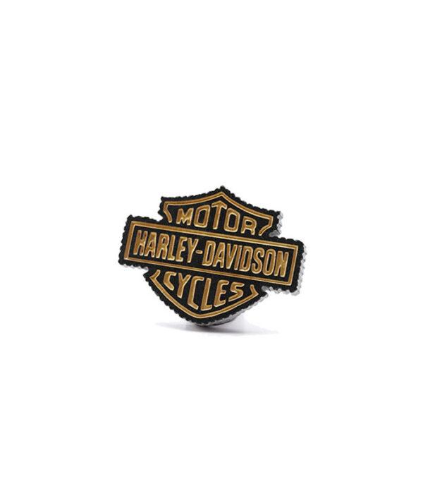 harley davidson logo i granitley davidson fan gave, harley davidson deko skrivebord