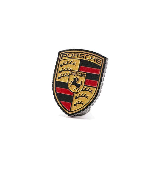 Porsche logo i granit med fod