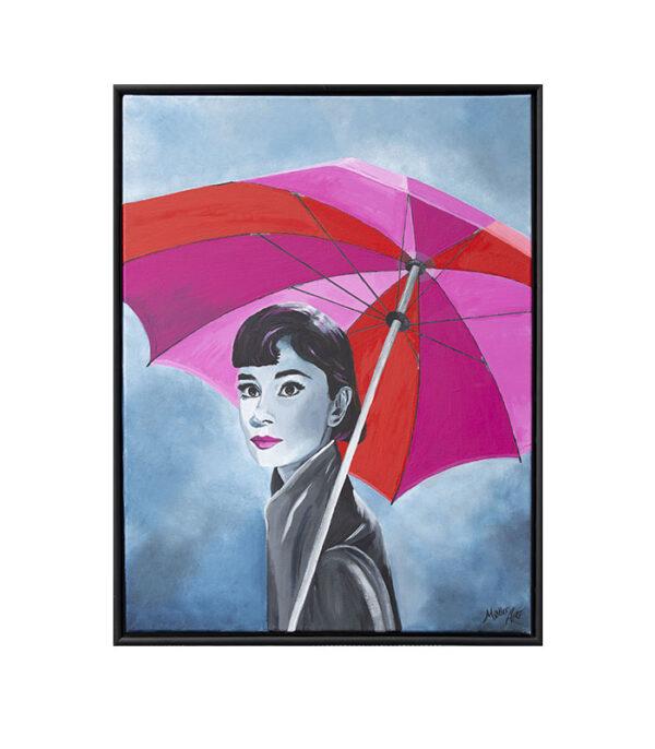 Audrey Hepburn som print