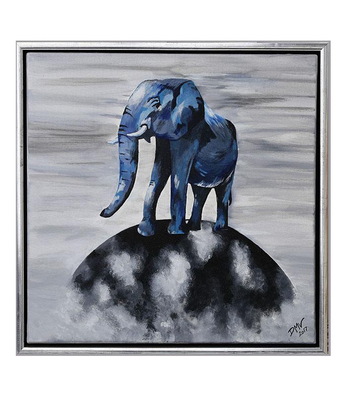 elefant maleri som print, elefant på globus som kunsttryk, giraf på lærred, giraf billede, giraf maleri, afrikanske dyr malerier, print elefant, plakat elefant