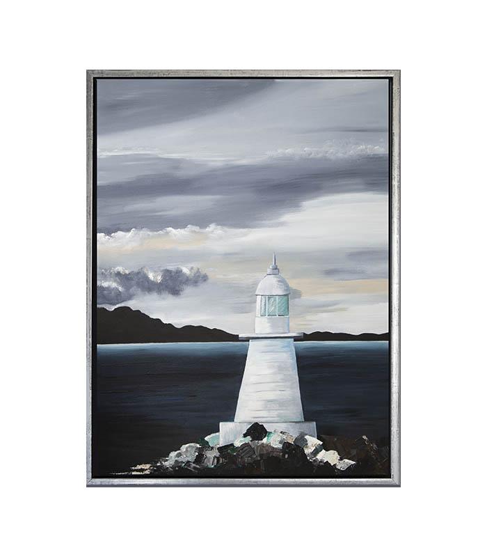 lighthouse fyrtårn på canvas