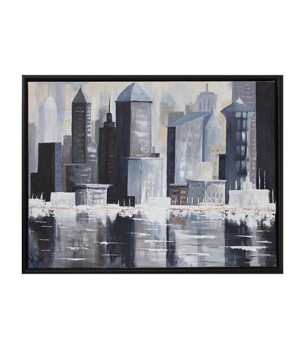 skyline som print på kanvas