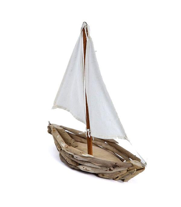 Dekorativt vikingeskib af genbrugstræ