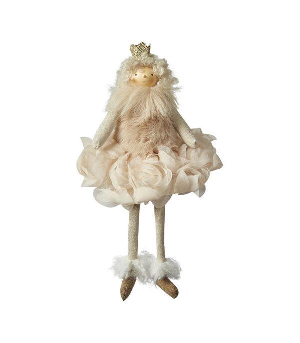prinsesse pige med krone og kjole retro