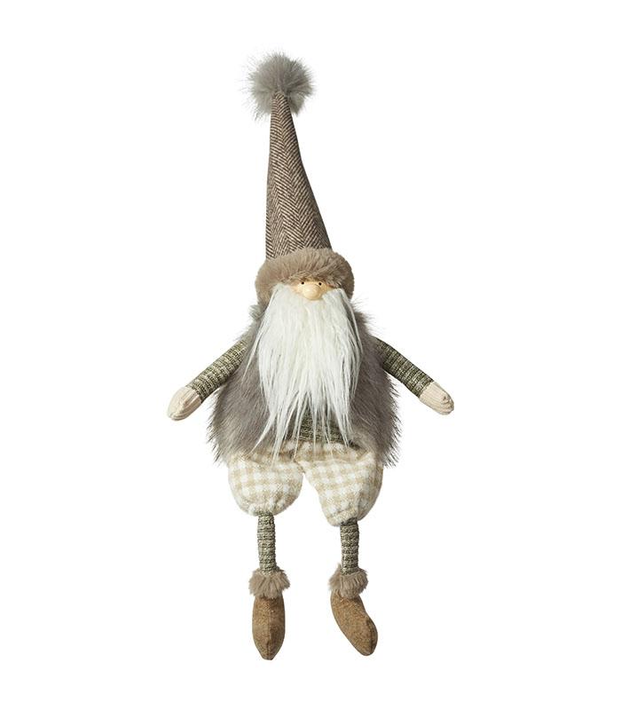 Stof kvalitets julemand sidder ned 55 cm af stof