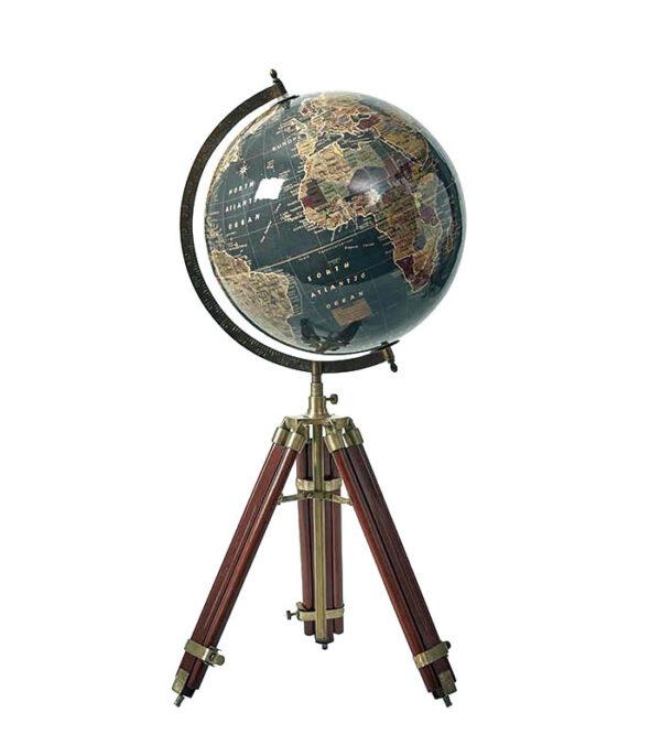 Globus med 3 bens træfod 74 cm