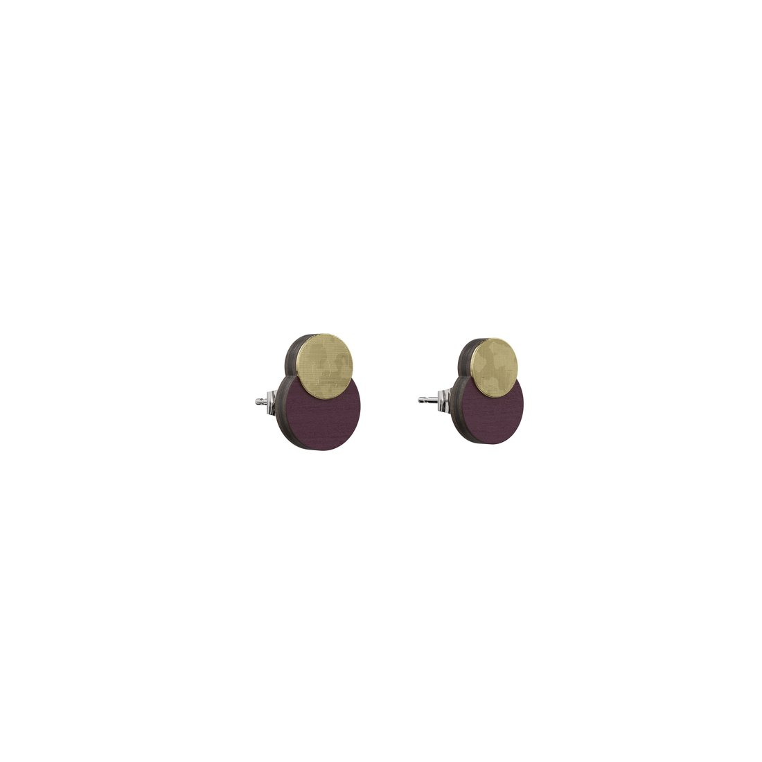 plum earrings