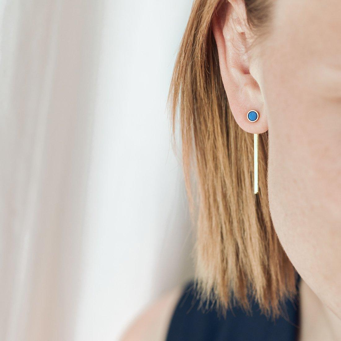 grundled gold earrings