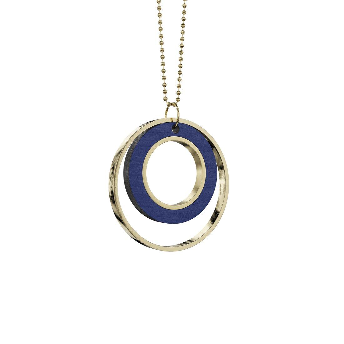 blå cirkel halskæde