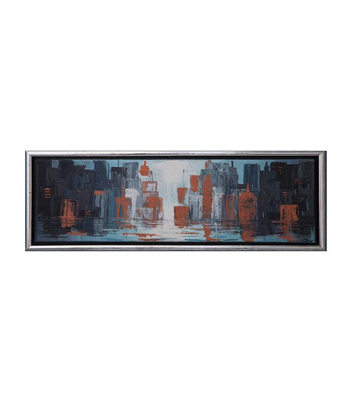 skyline panorama city 4 cm canvas