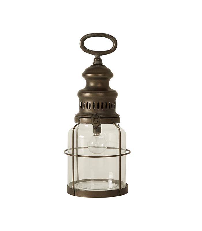 Lanterne med pære antik 30cm eller 40cm