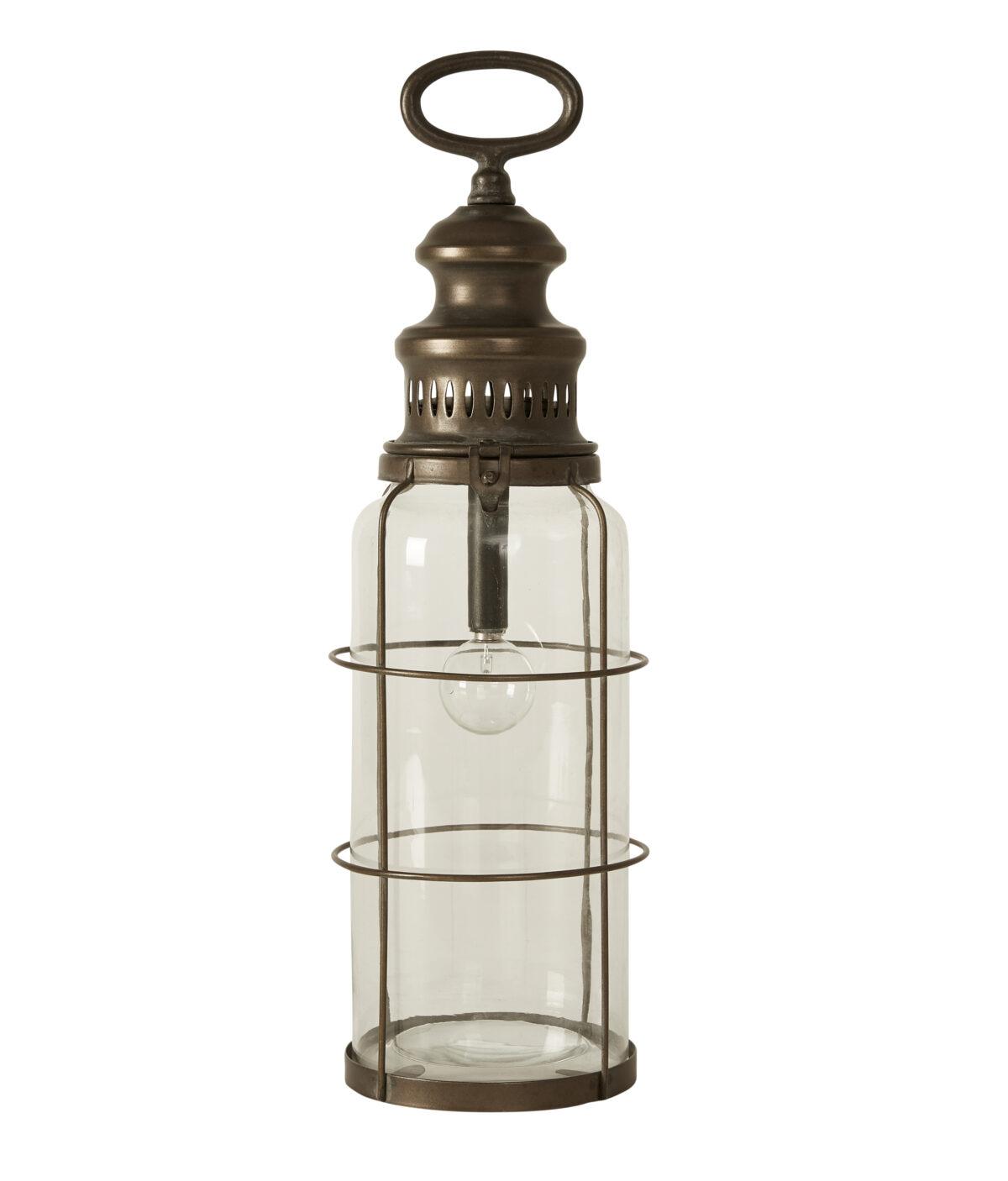 lanterne antik messing batteridrevet 40 cm