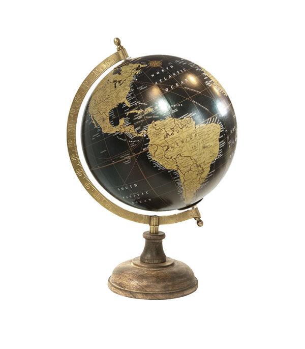 Globus med træfod 34cm sort