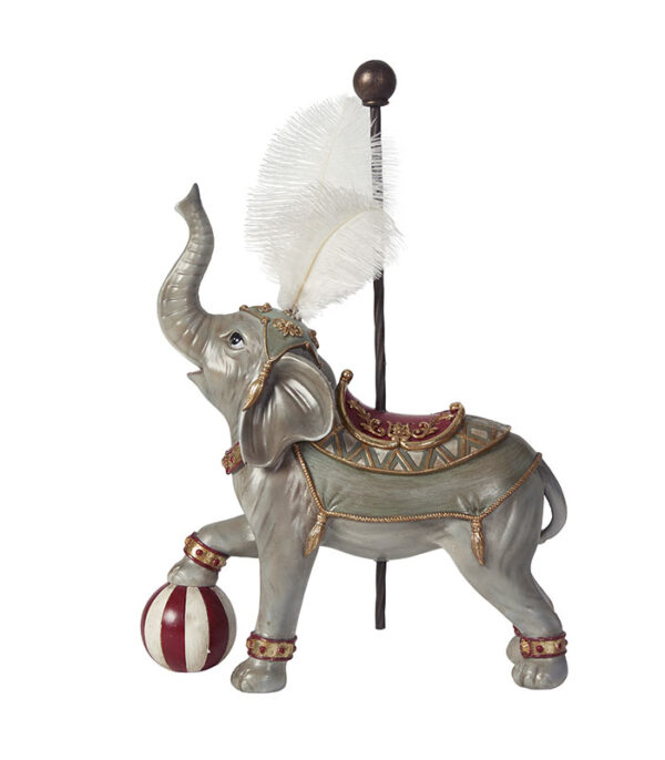 Deco cirkuselefant 43cm