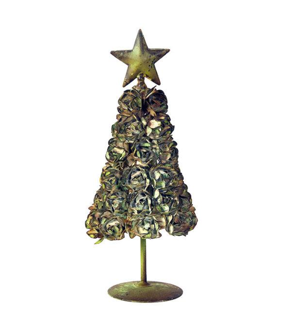Juletræ med roser metal 21cm
