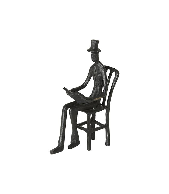 H C andersen siddende mand jernfigur