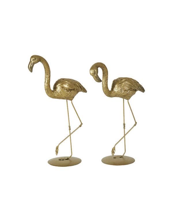 fin gylden flamingo 22cm figur