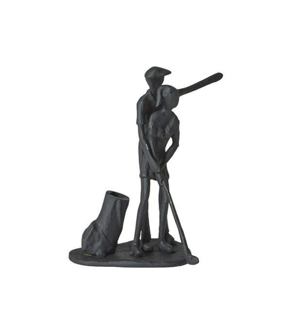 Golflektion kvinde og mand jernfigur